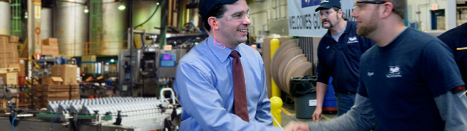 Gov. Walker in manufacturing